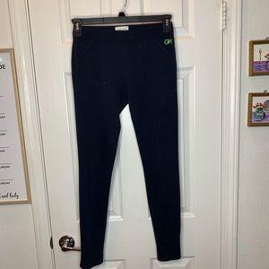 Woman's small leggings zipper black pants athletic